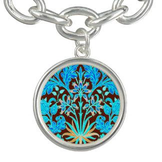 Charm Bracelets Impressão, Aqua e Brown do jacinto de William