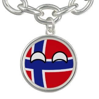 Charm Bracelets Noruega Geeky de tensão engraçada Countryball