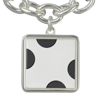 Charm Bracelets Pontos DarkGrey Checkered
