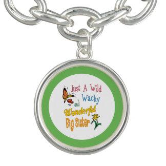 Charm Bracelets Presentes maravilhosos malucos selvagens da irmã