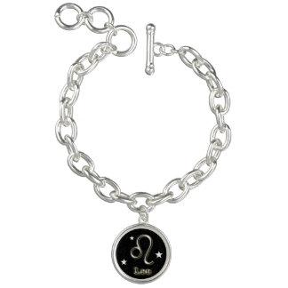 Charm Bracelets Símbolo do cromo de Leo