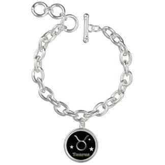 Charm Bracelets Símbolo do cromo do Taurus