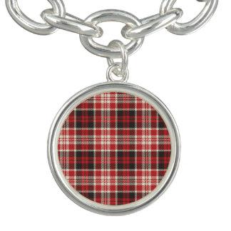 Charm Bracelets Teste padrão vermelho e preto da xadrez