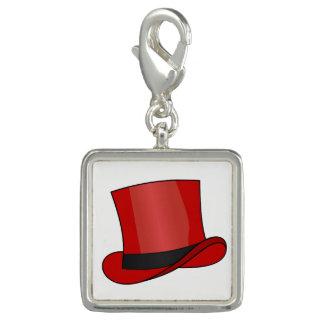 Charm Com Foto Chapéu alto vermelho