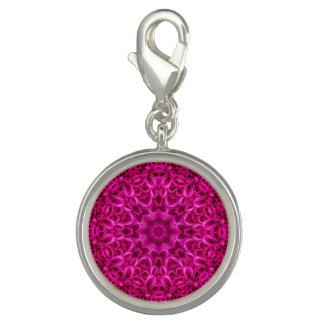 Charm Com Foto Encanto   cor-de-rosa do teste padrão de flor