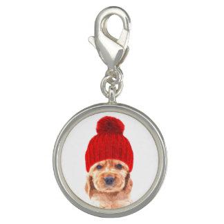 Charm Com Foto Filhote de cachorro de cocker spaniel com retrato
