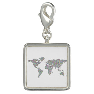 Charm Com Foto Mapa do mundo
