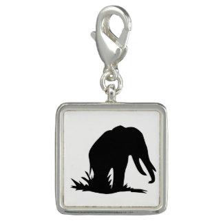 Charm Com Foto Silhueta do elefante