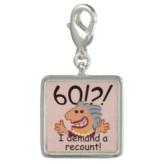 Charms Com Foto Aniversário da descrição engraçada 60th