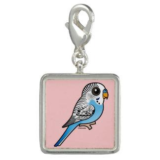 Charms Com Foto Azul de Birdorable Budgie