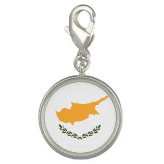 Charms Com Foto Bandeira patriótica de Chipre