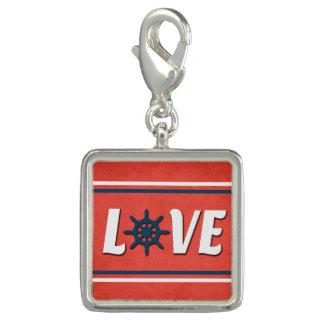 Charms Com Foto Design náutico do amor