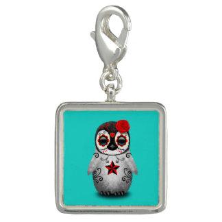 Charms Com Foto Dia vermelho do pinguim inoperante do bebê