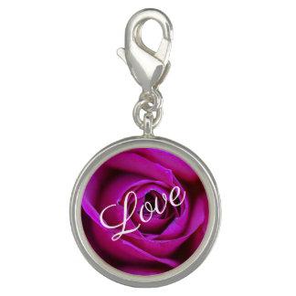 Charms Com Foto Encanto cor-de-rosa do amor