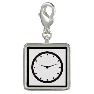Charms Com Foto Face do relógio com mãos