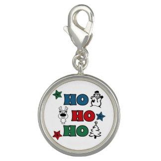 Charms Com Foto Ho-Ho-Ho design do Natal