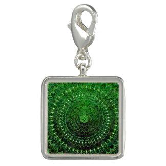 Charms Com Foto Mandala verde da flor