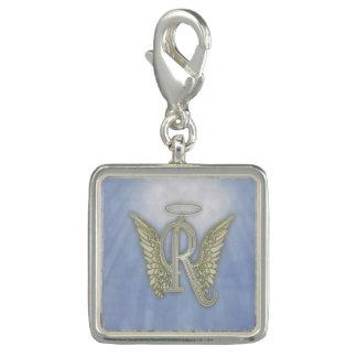 Charms Com Foto Monograma do anjo da letra R