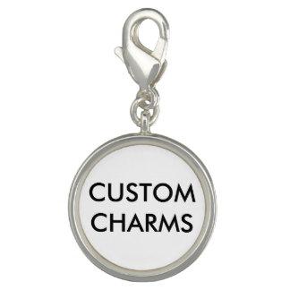 Charms Com Foto O costume personalizou o modelo de prata do vazio