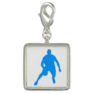 Charms Com Foto Silhueta do basquetebol