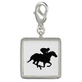 Charms Com Foto Silhueta do cavalo de raça