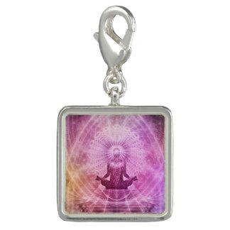 Charms Com Foto Zen espiritual da meditação da ioga colorido