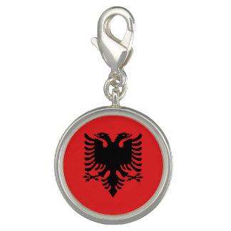 Charms Com Fotos Bandeira albanesa patriótica