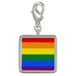 Charms Com Fotos Bandeira do arco-íris