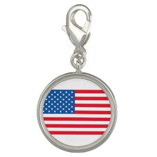 Charms Com Fotos Bandeira dos Estados Unidos da bandeira dos EUA