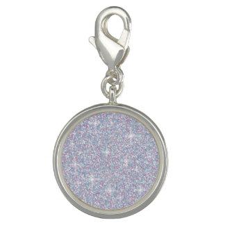 Charms Com Fotos Brilho iridescente branco