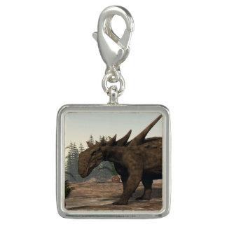 Charms Com Fotos Dinossauro de Sauropelta - 3D rendem