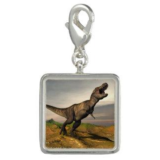 Charms Com Fotos Dinossauro do rex do tiranossauro - 3D rendem