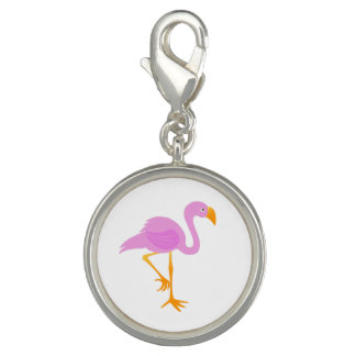 Charms Com Fotos Flamingo dos desenhos animados