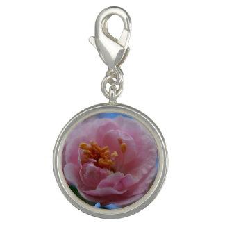 Charms Com Fotos Flor cor-de-rosa do primavera