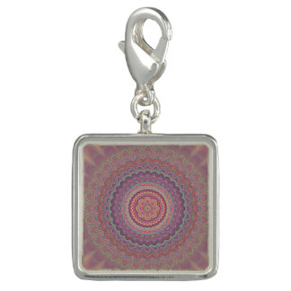 Charms Com Fotos Mandala geométrica do Hippie