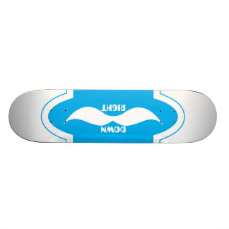 Charuto azul para baixo direito shape de skate 18,4cm