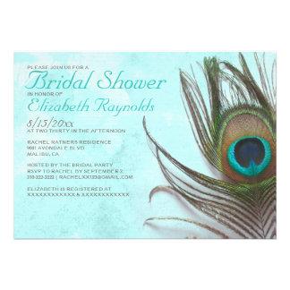 Chás de panela antigos da pena do pavão convites personalizados