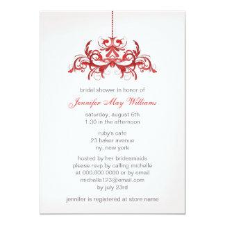 Chás de panela cor-de-rosa convite 12.7 x 17.78cm