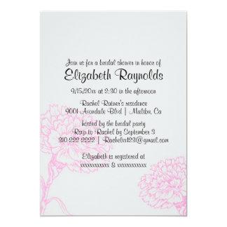 Chás de panela cor-de-rosa & pretos simples convite