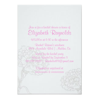 Chás de panela cor-de-rosa simples convites personalizado