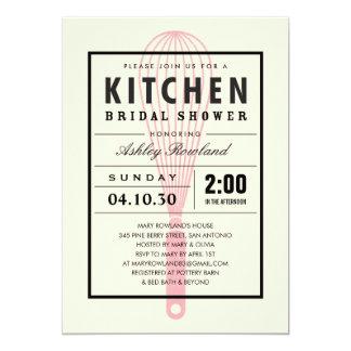 Chás de panela da cozinha convite 12.7 x 17.78cm