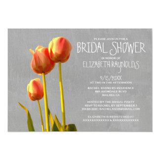 Chás de panela da tulipa convite 12.7 x 17.78cm