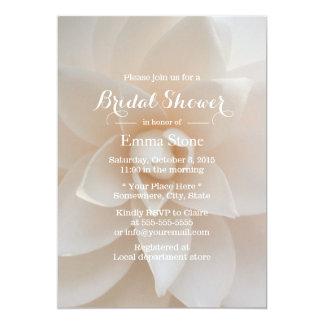 Chás de panela florais brancos simples convites