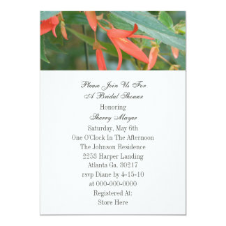 Chás de panela florais convite 12.7 x 17.78cm