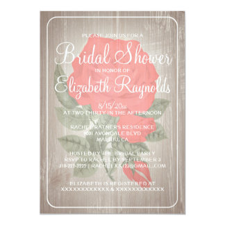 Chás de panela florais rústicos brancos vermelhos convites