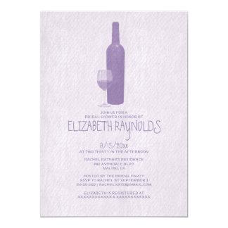 Chás de panela formais das garrafas de vinho convite 12.7 x 17.78cm