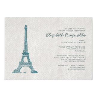 Chás de panela formais de Paris Convite 12.7 X 17.78cm