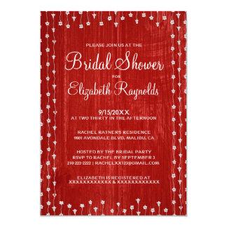Chás de panela rústicos brancos vermelhos do país convites personalizados