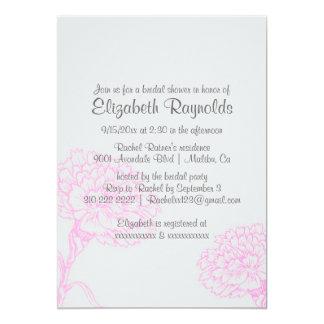 Chás de panela simples do rosa quente convite personalizado