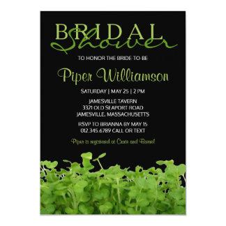 Chás de panela verdes brancos pretos modernos convite 12.7 x 17.78cm